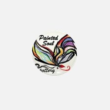 Painted Soul Pottery logo Mini Button