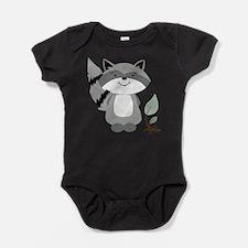 Cute Racoon Baby Bodysuit