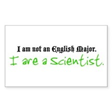 I are a Scientist Rectangle Decal