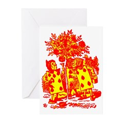 Painting the Roses Red Greeting Cards (Pk of 10)
