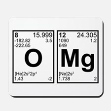 OMG Oh My God Periodic Table Elements Mousepad