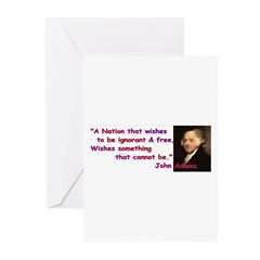 Ignorant & Free Greeting Cards (Pk of 10)