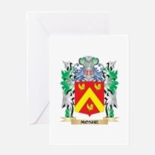 Moshe Coat of Arms - Family Crest Greeting Cards