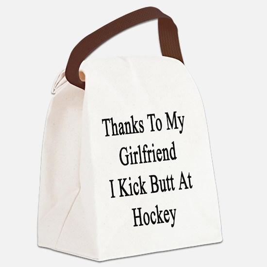 Cute Hockey fans Canvas Lunch Bag