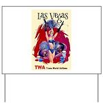 TWA Fly to Las Vegas Vintage Art Print Yard Sign