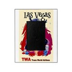 TWA Fly to Las Vegas Vintage Art Print Picture Fra