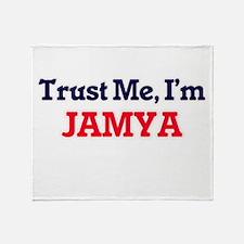 Trust Me, I'm Jamya Throw Blanket