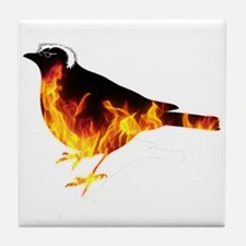 Feel the Bern Bird Tile Coaster