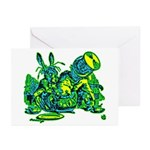 Dormous in Teapot Greeting Cards (Pk of 10)