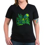 Dormous in Teapot Women's V-Neck Dark T-Shirt