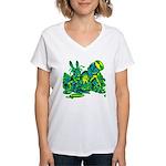 Dormous in Teapot Women's V-Neck T-Shirt