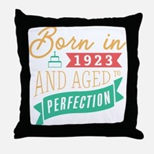 1923 Aged to Perfection Throw Pillow
