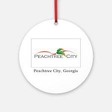 Peachtree City GA Flag Ornament (Round)