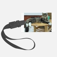 maine coon laying 2 Luggage Tag