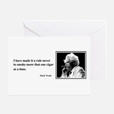 One Cigar At a Time Greeting Card