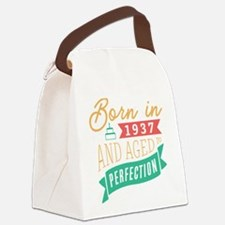 1937 Aged to Perfection Canvas Lunch Bag