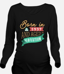 1937 Aged to Perfection Long Sleeve Maternity T-Sh