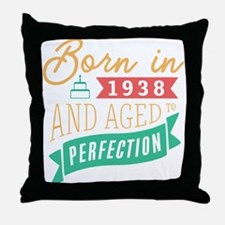 1938 Aged to Perfection Throw Pillow