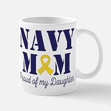 Navy Mom Proud Of Daughter Mugs