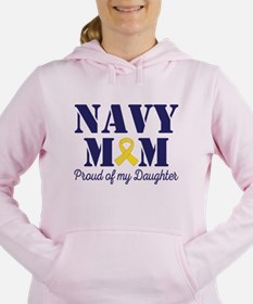 Navy Mom Proud Of Daughter Women's Hooded Sweatshi