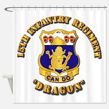 15th Infantry Regt - Dragon Shower Curtain