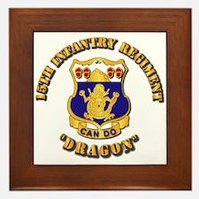 15th Infantry Regt - Dragon Framed Tile