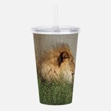 'Lion in the Grass' Acrylic Double-wall Tumbler