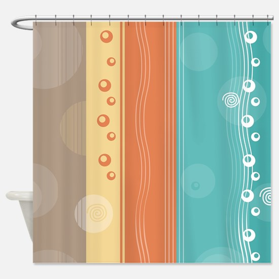 Abstract Modern Nautical Design Shower Curtain