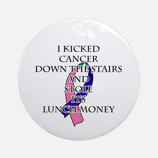 Thyroid Cancer Bully Round Ornament