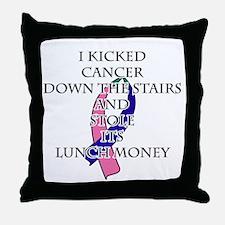Thyroid Cancer Bully Throw Pillow