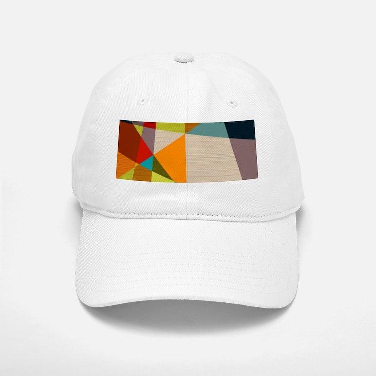 Mid Century Modern Geometric Baseball Baseball Cap