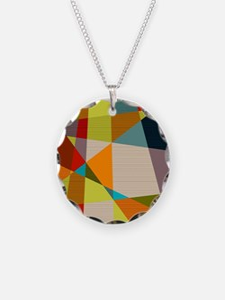Mid Century Modern Geometric Necklace