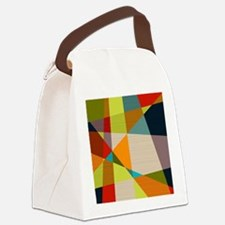 Mid Century Modern Geometric Canvas Lunch Bag