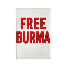 FREE BURMA Rectangle Magnet