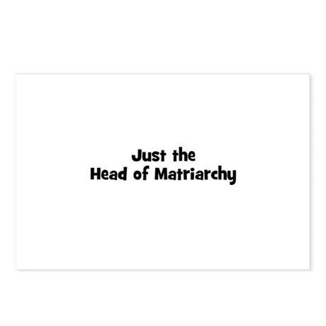 Just the Head of Matriarchy Postcards (Package of