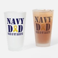 Navy Dad Proud Of Daughter Drinking Glass