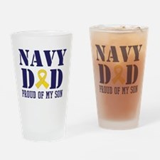 Navy Dad Proud Of Son Drinking Glass