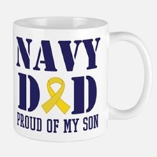 Navy Dad Proud Of Son Mugs