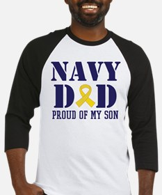 Navy Dad Proud Of Son Baseball Jersey