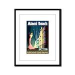 Miami Beach Art Deco Railway Print Framed Panel Pr