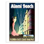 Miami Beach Art Deco Railway Print Small Poster
