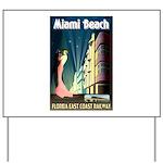 Miami Beach Art Deco Railway Print Yard Sign