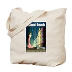 Miami Beach Art Deco Railway Print Tote Bag