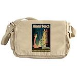 Miami Beach Art Deco Railway Print Messenger Bag