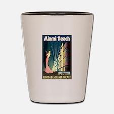 Miami Beach Art Deco Railway Print Shot Glass