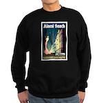 Miami Beach Art Deco Railway Print Sweatshirt