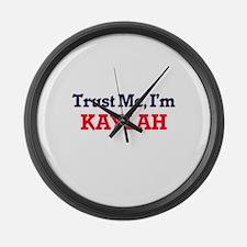 Trust Me, I'm Kaylah Large Wall Clock