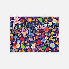 Boho floral 5'x7'Area Rug