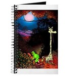 Giraffe and Frog Art Deco Abstract Fantasy Print J