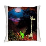 Giraffe and Frog Art Deco Abstract Fantasy Print E